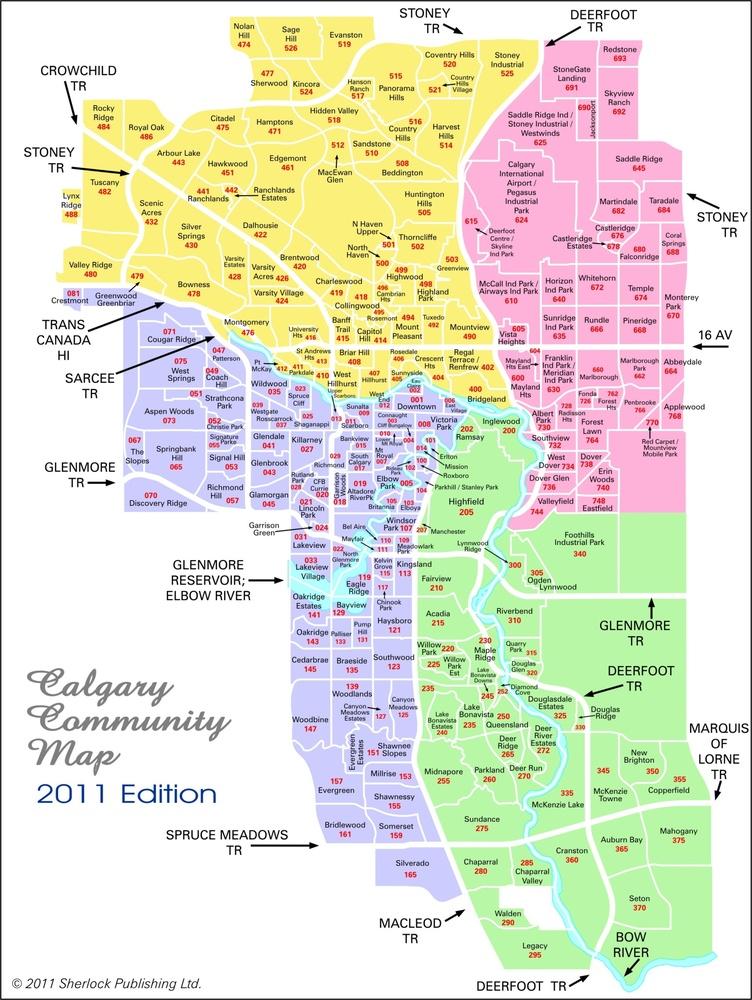 卡尔加里房产社区地图 - 卡尔加里房产网